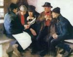 Живопись | Вильгельм Лейбль | Сельские политики, 1877