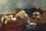 Живопись | Вильгельм Лейбль | Спящий мальчик-савояр, 1869