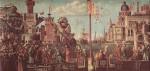 Живопись | Витторе Карпаччо | Встреча св. Эферия со св. Урсулой и отъезд паломников, 1498
