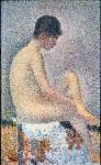 Живопись | Жорж-Пьер Сёра | Модель в профиль, 1886