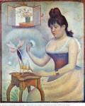 Живопись | Жорж-Пьер Сёра | Пудрящаяся Девушка, 1890