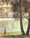 Живопись | Жорж-Пьер Сёра | Сена в Курбевуа, 1885