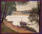 Живопись | Жорж-Пьер Сёра | Сена у Гран-Жатт весной, 1888