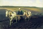 Живопись | Илья Репин | Пахарь. Лев Толстой на пашне,  1887