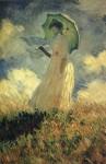 Живопись | Клод Моне | Женщина с зонтиком, повернувшаяся налево, 1886