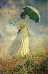 Живопись | Клод Моне | Женщина с зонтиком, повернувшаяся направо, 1886