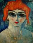 Живопись | Морис де Вламинк | Portrait of a Woman