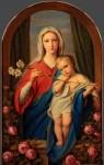 Живопись | Федор Бруни | Богоматерь с младенцем в розах, 1843
