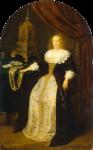 Живопись | Франц ван Мирис Старший | Портрет дамы сидящей у стола, 1665
