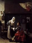 Живопись | Франц ван Мирис Старший | Сцена в борделе, 1658