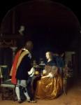 Живопись | Франц ван Мирис Старший | Угощение устрицами, 1659