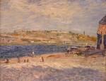 Живопись | Альфред Сислей | Берег реки в Сен-Маммесе, 1884