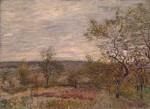 Живопись | Альфред Сислей | Ветреный день в Вене́, 1882