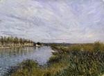 Живопись | Альфред Сислей | Вид на Сен-Маммес, около 1880