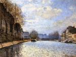 Живопись | Альфред Сислей | Канал Сен-Мартан, 1870