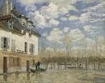 Живопись | Альфред Сислей | Лодка во время наводнения. Пор-Марли, 1876