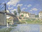 Живопись | Альфред Сислей | Мост в Вильнёв-ла-Гаренн, 1872