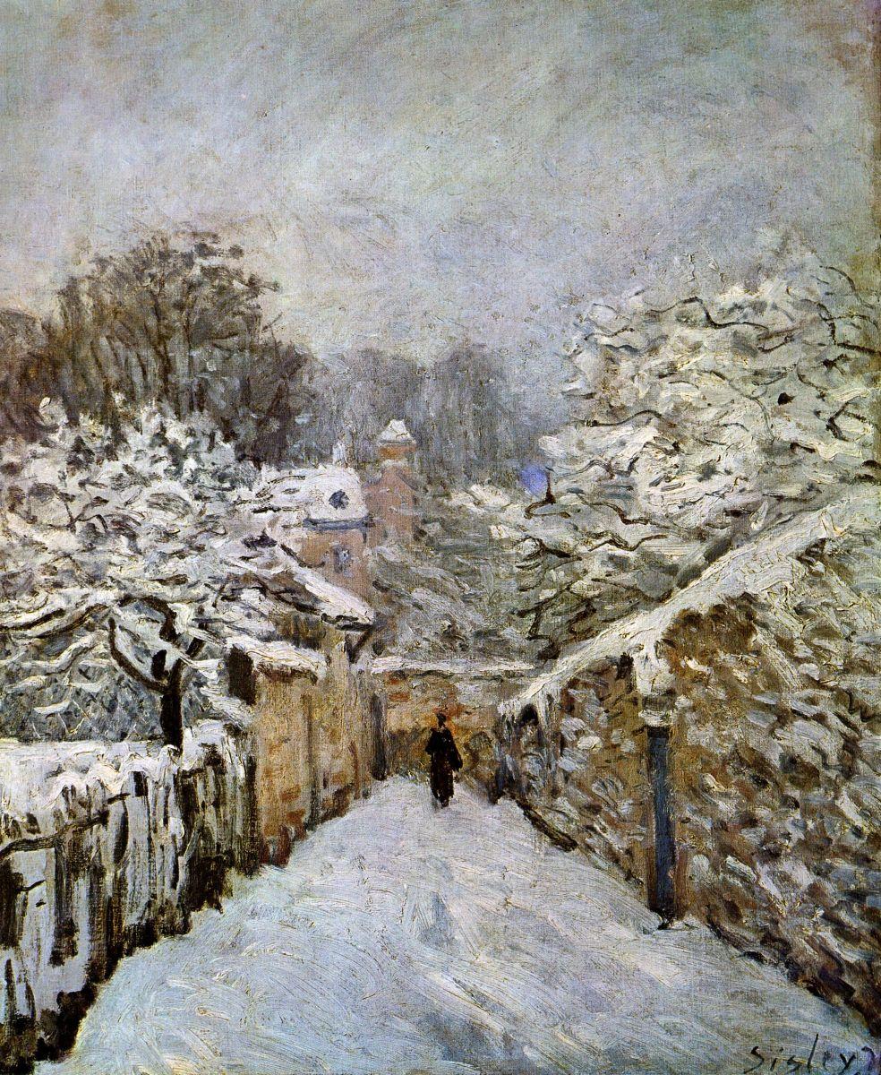 Обои Клод Моне, Пейзаж, картина, Сена возле Ветей. Бурная Погода. Разное foto 7