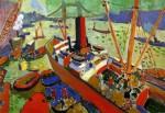 Живопись | Андре Дерен | Лондонская гавань, 1906