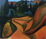 Живопись | Андре Дерен | Пейзаж близ Мартига, 1908
