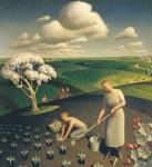 Живопись   Грант Вуд   Весна в деревне, 1941
