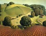 Живопись   Грант Вуд   Молодая кукуруза, 1931