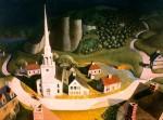 Живопись   Грант Вуд   Скачка Ревира, 1931