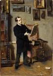Живопись | Джованни Болдини | Автопортрет во время разглядывания картины, 1865