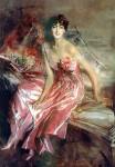 Живопись   Джованни Болдини   Леди в розовом, 1911