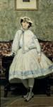Живопись | Джованни Болдини | Портрет Алаиды Банти в белом платье, 1866