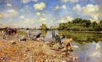 Живопись | Джованни Болдини | Стирка, 1874