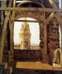 Живопись | Джузеппе Аббати | Башня на Палаццо дель Подеста, 1865