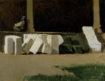 Живопись | Джузеппе Аббати | Внутри обители, 1861-62