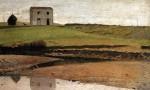 Живопись | Джузеппе Аббати | Дом у реки, 1868