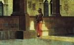 Живопись | Джузеппе Аббати | Оруженосец в галерее, 1864