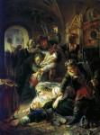 Живопись | Константин Маковский | Агенты Дмитрия Самозванца убивают Фёдора Годунова, 1862