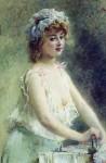 Живопись | Константин Маковский | Гладильщица, 1880