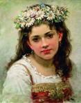 Живопись | Константин Маковский | Головка девочки, 1889