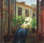 Живопись | Константин Маковский | У раскрытого окна, 1910