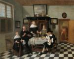 Живопись   Корнелис де Ман   Семейный портрет в интерьере