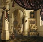 Живопись   Корнелис де Ман   Старая церковь в Делфте