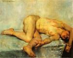 Живопись | Ловис Коринт | Лежащая обнаженная, 1907