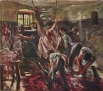 Живопись | Ловис Коринт | На бойне, 1893