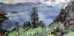 Живопись | Ловис Коринт | Панорама Вальхензее, вид со скалы, 1924