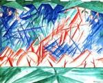 Живопись | Михаил Ларионов | Голубой лучизм, 1915
