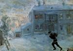 Живопись | Михаил Ларионов | Пейзаж под снегом, 1899
