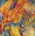 Живопись | Михаил Ларионов | Петух. Лучистый этюд, 1912