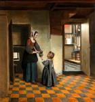 Живопись | Питер де Хох | Женщина с ребёнком у кладовки, 1658