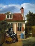 Живопись | Питер де Хох | Компания в саду, 1664