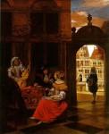 Живопись | Питер де Хох | Музыкальный вечер, 1677